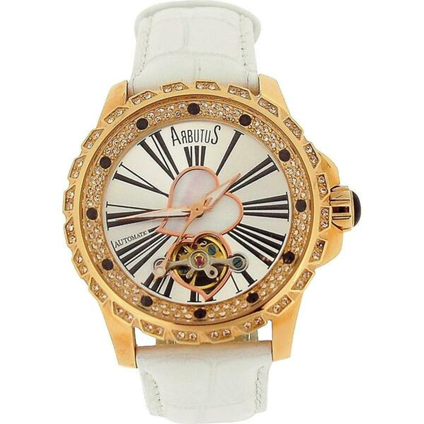Arbutus New York Heartbeat Series Automatic Large Ladies Rose Gold Watch $109.00
