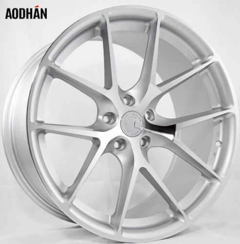 AodHan LS007 20x9 +30 5X112 Silver Machined w TPMS and Lug Bolts (Set of 4)