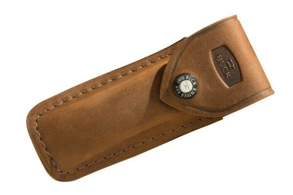 Buck Knives 110 Folding Hunter Distressed Brown Genuine Leather Sheath