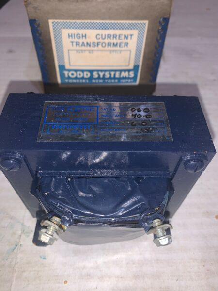 TODD ELECTRIC FILTER CHOKE 40.0 MH 6 Amps .35 Ohms 50 400 Cycles Cat No. CH 06B $34.95