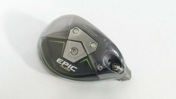 New! TOUR ISSUE! Callaway 2019 Epic Flash 27* 6 Hybrid -HEAD ONLY- w Specs!