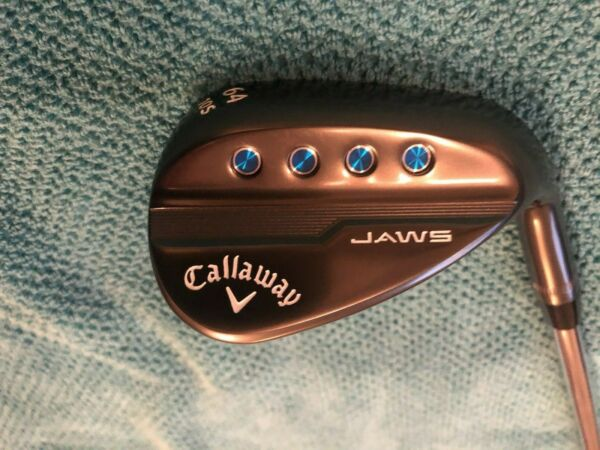 CALLAWAY JAWS MD5 TOUR GREY 64* LOB WEDGE -10* BOUNCE-S-GRIND TT 115 S200 - USED