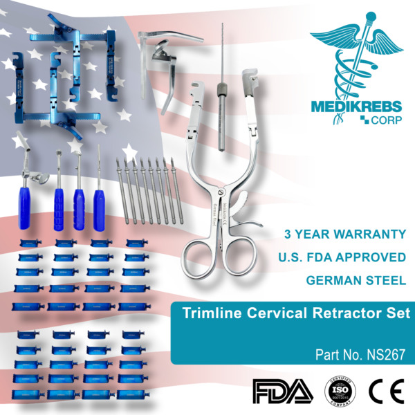 Trimline Cervical Retractor Set Surgical Instruments OR Grade