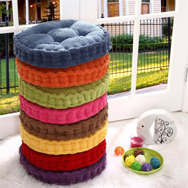 Round Cotton Chair Cushion Pad Home Car Bistro Kitchen Patio Cushion Pad $18.40
