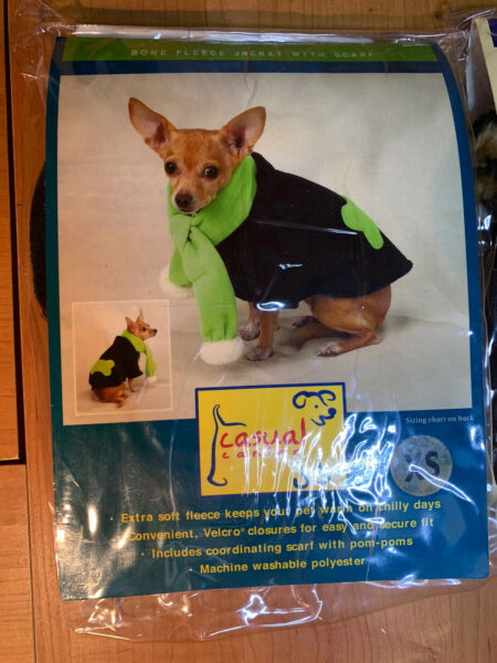 Casual Canine Animal Clothing Fleece With Scarf Size XS Dog Extra Small $5.00