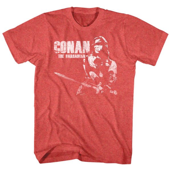 Conan the Barbarian Vintage Movie Poster Men#x27;s T Shirt Sword Schwarzenegger Top