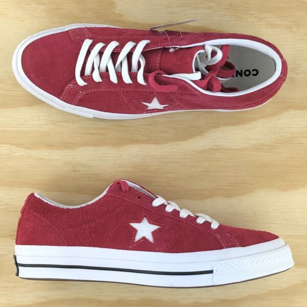 Converse One Star Pro Ox Red Pink Fuchsia Suede Skating Sneakers 162575C Size