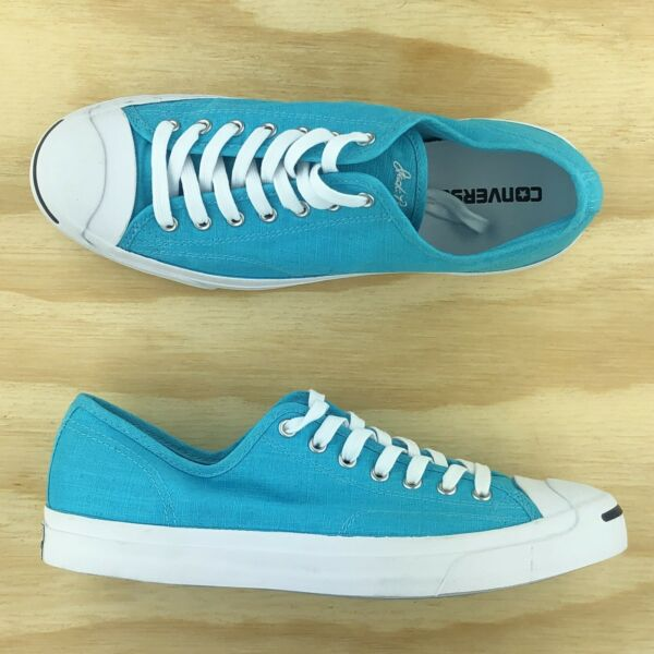 Converse Jack Purcell Signature Ox Low Top Aqua Blue Sneakers 155635C Size 10.5
