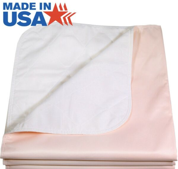 Reusable Washable Under Pad Bed Liner 34x36 inch Pink New WATERPROOF Underpad $14.99