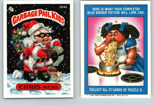 1987 SERIES 7 TOPPS GPK GARBAGE PAIL KIDS 254a CHRIS MESS