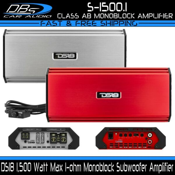 DS18 S 1500.1 1500 Watt Monoblock Car Audio Subwoofer Stereo Amplifier Sub Amp