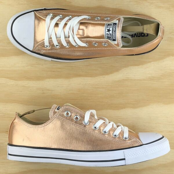 Converse Chuck Taylor All Star Low Top Rose Gold White Casual Shoes 154037F Size