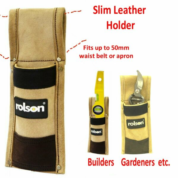 Heavy Duty Leather Scaffold Spirit Level Single Tool Pouch Holster GBP 6.49