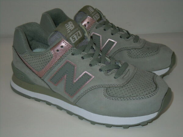 New Balance 574 Suede CLASSIC SEED/PINK  ATHLETIC Shoes Wo's  SIZE 7 B