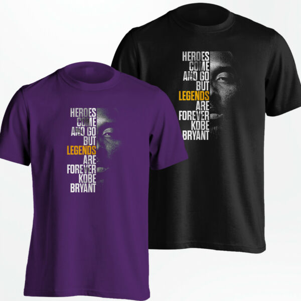 Kobe Bryant T-Shirt - Los Angeles LA Lakers Black Mamba Shirt - S-5XL