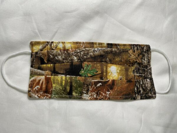 New Handmade CAMO Face Masks Double Layer Fabric For Adults