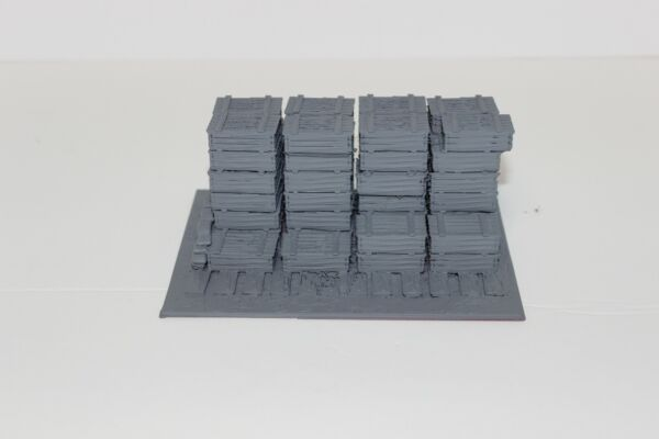 Large Crate Stockpile 3D Printed 1:100 1:87 1:72 1:48