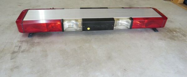 Vintage Whelen Edge 9000 Lightbar - Strobe Red & White 48