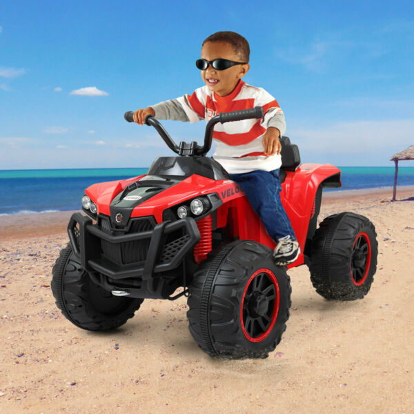 Electric Car Kids Ride On ATV Quad 6V Powered Double Motor 4 Wheels Toy Car Red $135.99