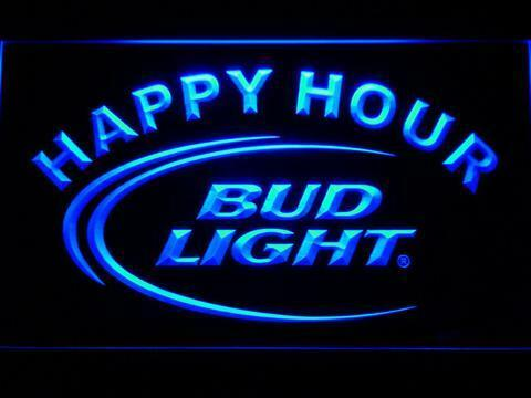 Bud Light Beer Happy Hour Led Neon Sign for Game Room BarMan Cave US Shipper
