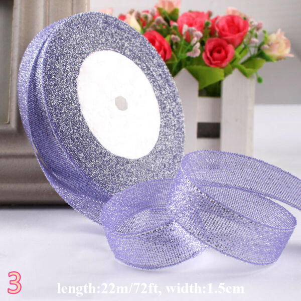 22m Colored Ribbon Strap Tape Band Cake Gift Box Bandage Trimming DIY Craft Chic