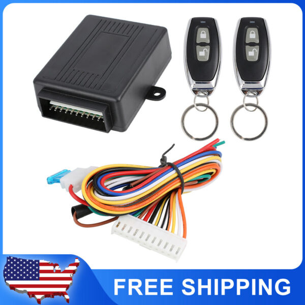 Remote Central Kit Door Lock Vehicle Keyless Entry System Universal for Car $17.99