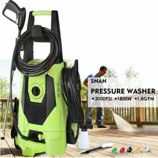 3000PSI High Power Water Electric Pressure cleaner 1.8GPM Machine washer 1800W