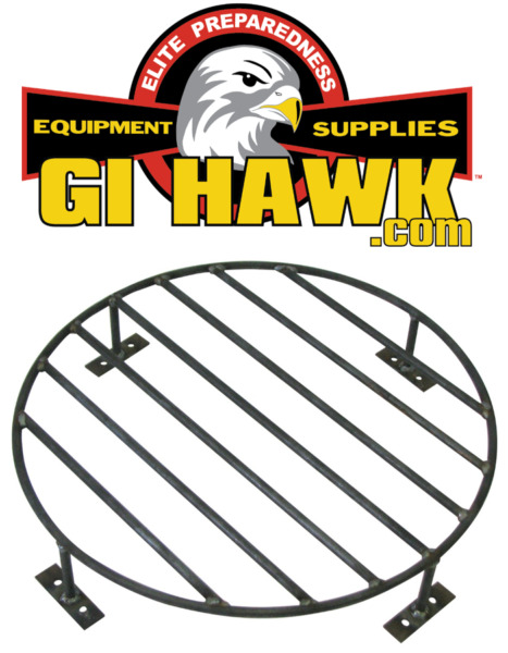 "Heavy Duty Steel 24"" Grate for Outdoor Fire Pits Above Ground Fire Grate"