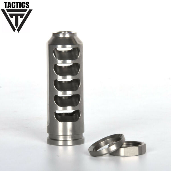.223 Low Concussion 1 2x28 TPI Muzzle Brake Stainless for 5.56 Compensator Nut
