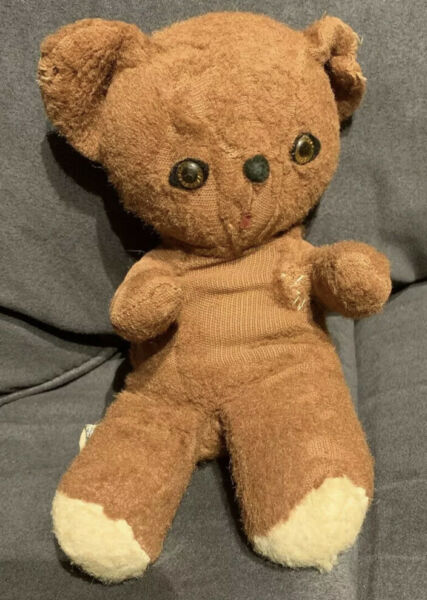 Knickerbocker Teddy Bear Brown Animal of Distinction VTG Antique 8