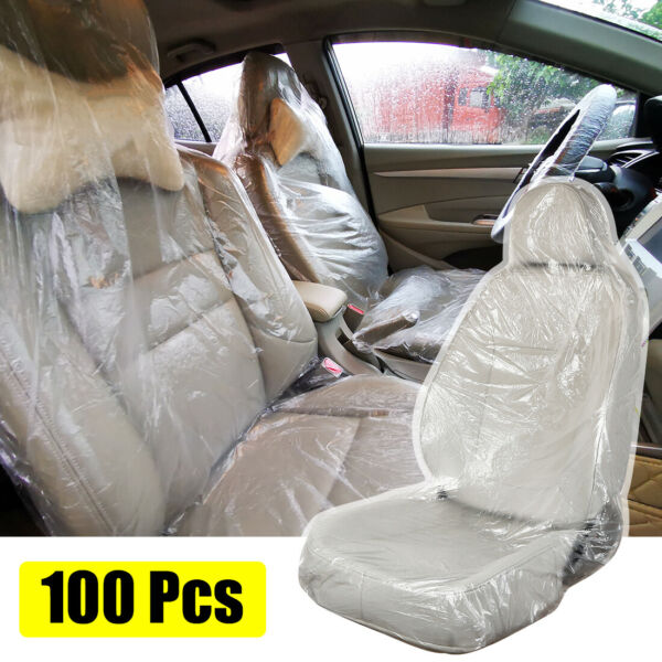 100 Pcs Waterproof Dust proof Seat Covers Universal for Car Truck Taxi SUV $20.99