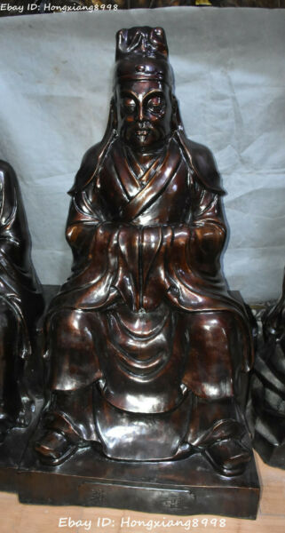 Big China Bronze Seat Tang Dynasty People Man Medicine King Sun Simiao Statue