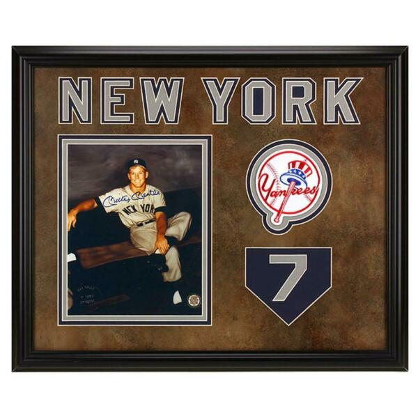 Mickey Mantle autographed 20x16