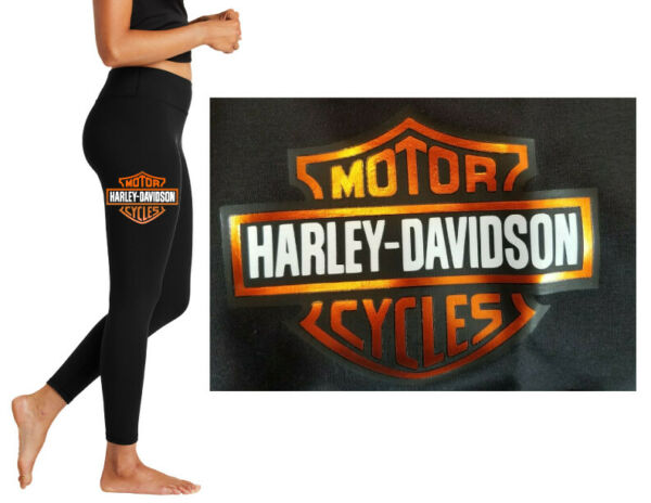 7 8 Ankle Leggings Great Quality Harley Davidson Metallic Biker Wife Gift Sexy $37.99