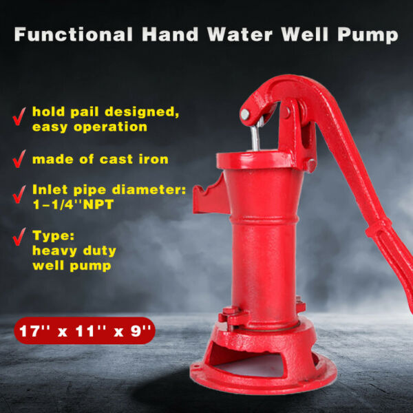 Garden Manual Water Pump Heavy Duty Well Pitcher Cast Iron Press Suction Pond $52.12