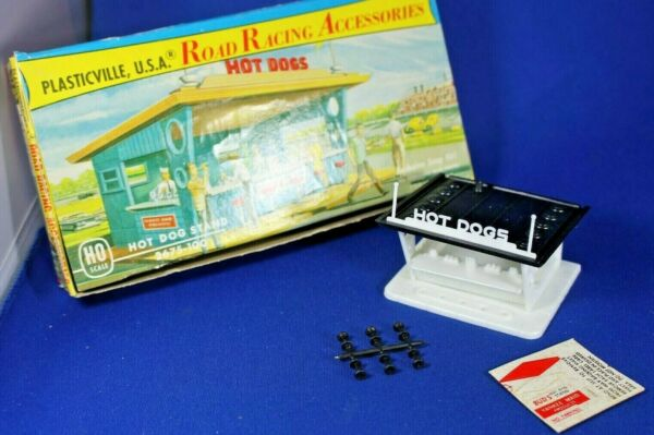 HO Plasticville #2675 100 Hot Dog Stand Road Race Accessories Ex $65.00