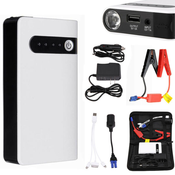 12V Mini Portable Car Jump Starter Booster Box Power Bank Engine Battery Charger $36.99