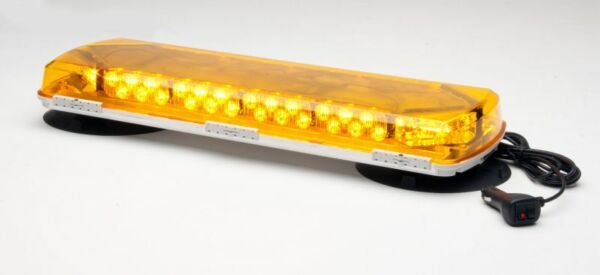 NEW Whelen Amber Mini Lightbar wVacuum Mount-72 LEDs #MC23VA MSRP $612