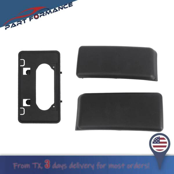 Front Bumper Guards Pads amp; License Plate Frame Bracket For 2009 2014 Ford F150