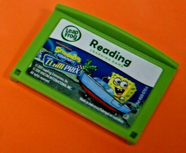 Leapfrog Leapster Explorer Spongebob Clam Prix Cartridge Leap Pad 23GS XDi $13.95