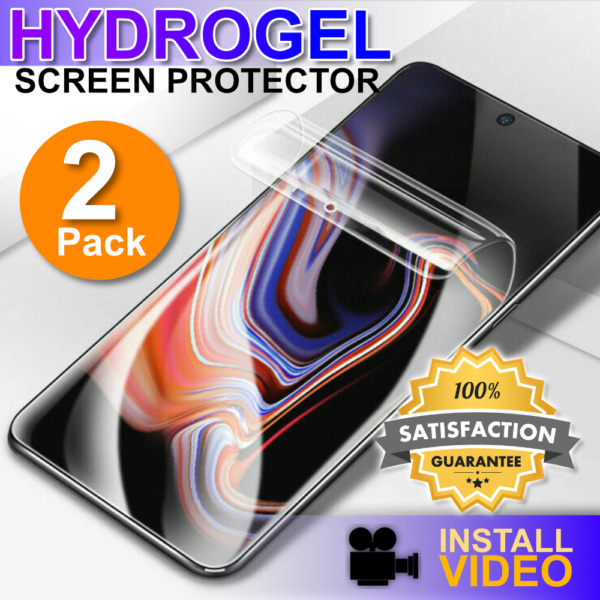 HYDROGEL Screen Protector Samsung Galaxy S20 Ultra S10 S9 S8 Plus + 2 Pack $7.95