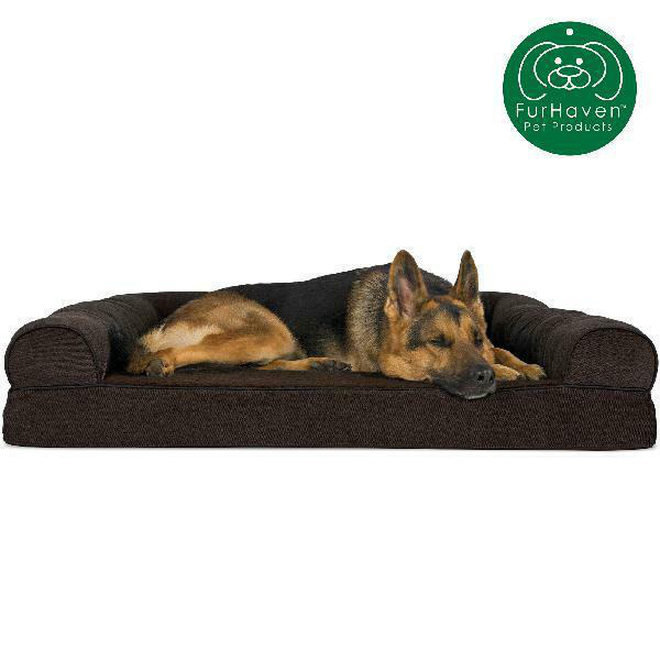 FurHaven Orthopedic Faux Fleece Sofa Pet Dog Bed Small Coffee $98.67