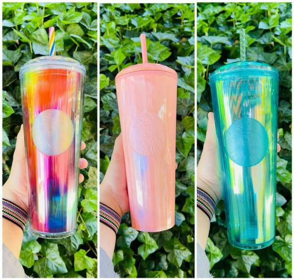STARBUCKS CONFETTI STUDDED COLOR CHANGING SUMMER 2021 REUSEABLE 240Z TUMBLER