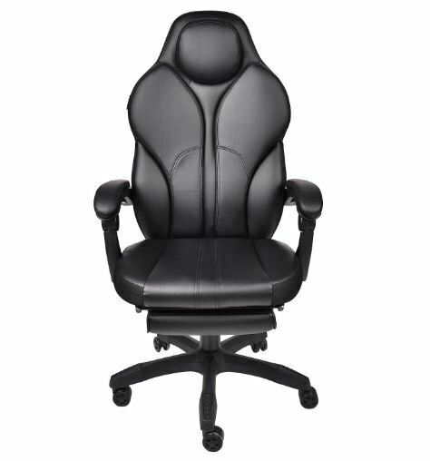 Computer Gaming Chair Ergonomic High Back Lumbar Support with Footrest