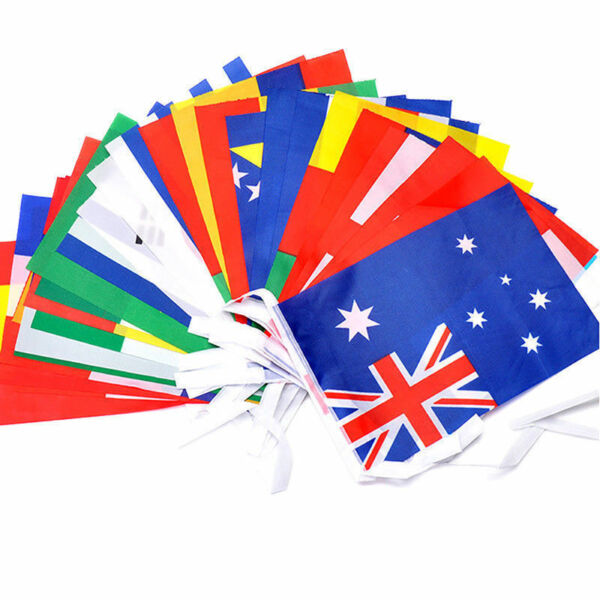 100 PACKS OF Premium Quality Flags of The World 100D Fabric Party Event Bunting