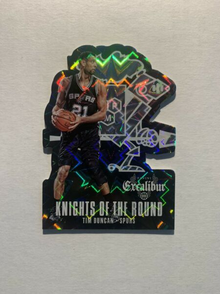 Tim Duncan 2014-15 Panini Excalibur Knights of the Round Die-Cuts #16 Spurs SP