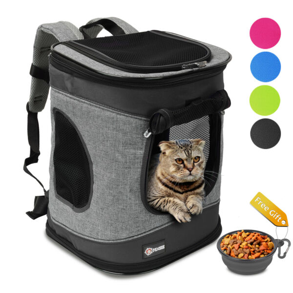 Pet Carrier Airline Approved Travel Dog Backpack for Hiking Walking Puppy Cats $31.99