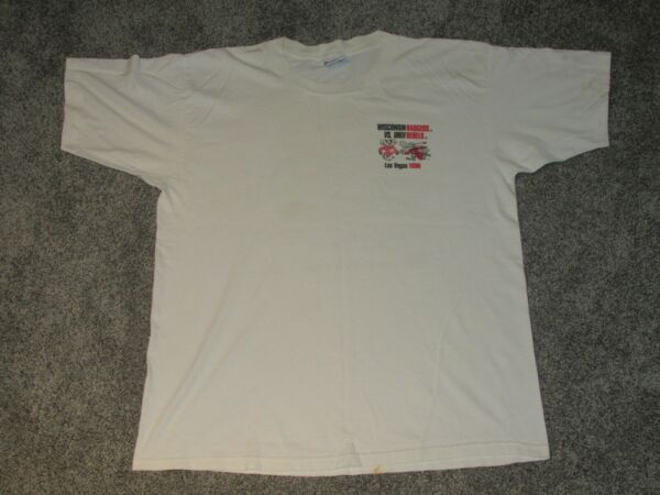 Vintage 1996 Wisconsin Badgers UNLV Raiders Game Day Sports Tee Shirt