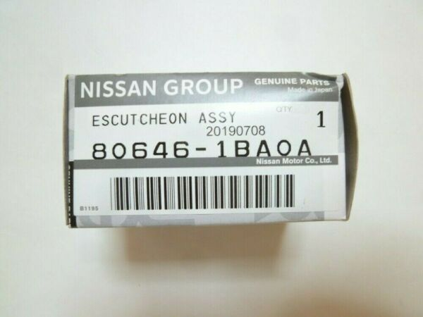 Genuine Nissan ESCUTCHEON ASSY-DOOR OUTSIDE HANDLE 80646-1BA0A FS