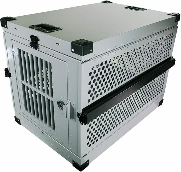 Extreme Rugged XL Folding Dog Crate Heavy Duty Collapsible Travel Carrier